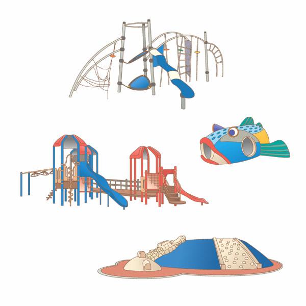 案内板用公園遊具イラスト