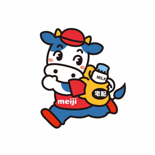 明治乳業特約店のキャラクターデザイン