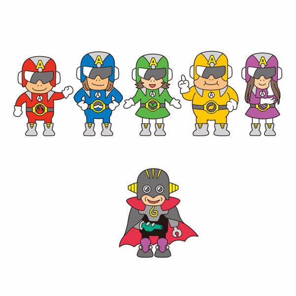観光振興4コマ漫画用キャラクターデザイン