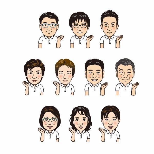 保険会社名刺用似顔絵イラスト