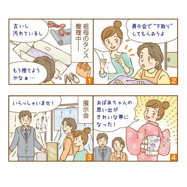 商品チラシ用広告漫画